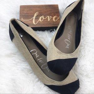 TOMS Burlap Alessandra Ballet Flats